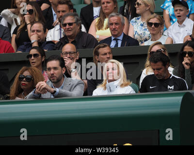 London, UK. 13th July, 2019. LONDON, ENGLAND - JULY 13: Alexis Ohanian attend the Women's Singles Final of the Wimbledon Tennis Championships at All England Lawn Tennis and Croquet Club on July 13, 2019 in London, England People: Alexis Ohanian Credit: Storms Media Group/Alamy Live News - Stock Photo