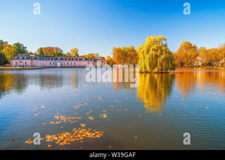 Benrath Palace (Schloss Benrath) in autumn. Dusseldorf. Germany - Stock Photo