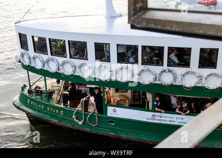 Hong Kong - August 01, 2018: The Star Ferry in Hong Kong - Stock Photo