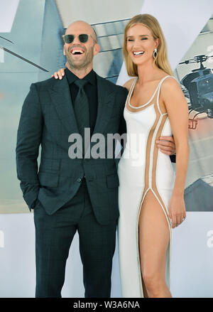 Los Angeles, USA. 13th July, 2019. Rosie Huntington-Whiteley, Jason Statham 024 arrives at the Premiere Of Universal Pictures' 'Fast & Furious Presents Hobbs & Shaw' at Dolby Theatre on July 13, 2019 in Hollywood, California Credit: Tsuni/USA/Alamy Live News - Stock Photo
