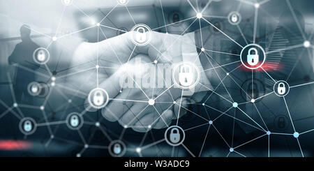 Corporate Data protection. Cyber Security Privacy Business Internet Technology Concept - Stock Photo