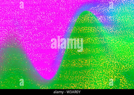 Photo of holographic real texture in Neo Mint and Pink colors, iridescent surface. Holographic color wrinkled foil. Colored glitter. Shining backgroun - Stock Photo