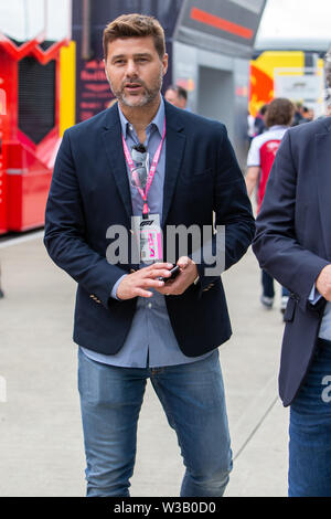 Silverstone, UK. 14th July, 2019.  FIA F1 Grand Prix of Britain, Race Day; Tottenham Hotspur Manager Mauricio Pochettino Credit: Action Plus Sports Images/Alamy Live News - Stock Photo
