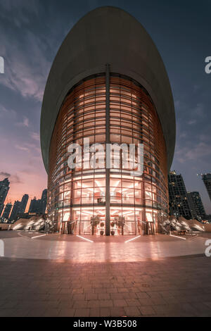 Dubai Opera, Dubai, United Arab Emirates - Jan.15, 2018: Beautiful modern opera house - Stock Photo