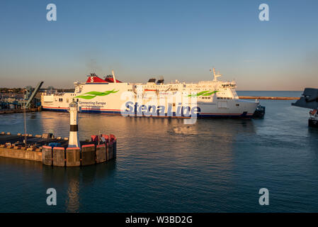 Trelleborg, Sweden - July 7, 2019: View of the ferry Stena Line in the Swedish port of Trelleborg, Sweden. - Stock Photo