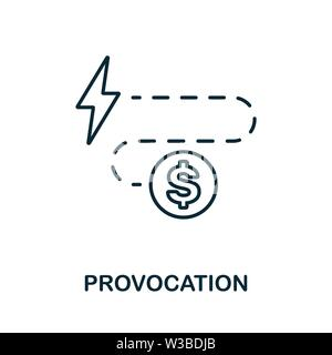 Provocation icon. Thin outline style design from corruption icons collection. Creative Provocation icon for web design, apps, software, print usage - Stock Photo