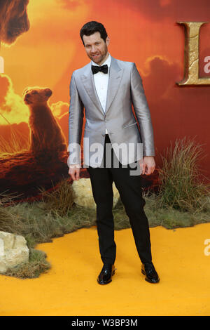 Billy Eichner attends the European Premiere of Disney's The Lion King at the Odeon Leicester Square, London. - Stock Photo