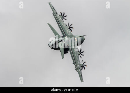 Airbus A400M Atlas seen during its flying display at the RIAT 2017 - Stock Photo