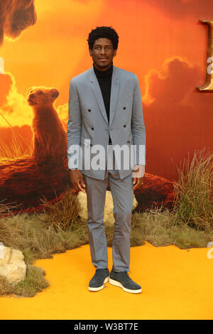 Labrinth attends the European Premiere of Disney's The Lion King at the Odeon Leicester Square, London. - Stock Photo