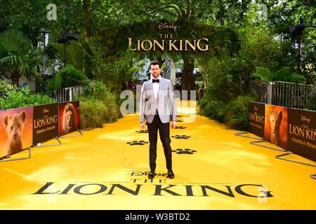 Billy Eichner attending Disney's The Lion King European Premiere held in Leicester Square, London. - Stock Photo