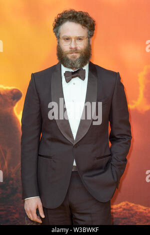 London, UK. 14th July, 2019. Seth Rogen attends the 'The Lion King' European Premiere held at Leicester Square. Credit: Peter Manning/Alamy Live News - Stock Photo