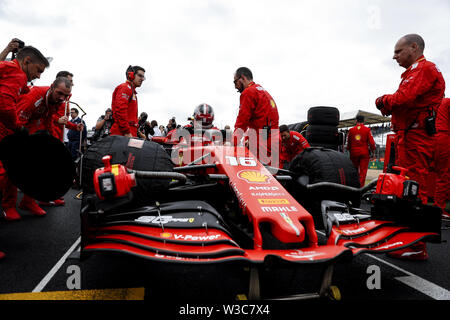Silverstone, UK.14th July, 2019. CHARLES LECLERC of Scuderia Ferrari before the Formula 1 British Grand Prix at Silverstone Circuit. Credit: James Gasperotti/ZUMA Wire/Alamy Live News - Stock Photo