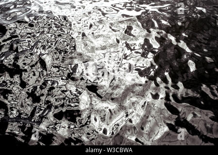 The surface of the water in black and white - Stock Photo