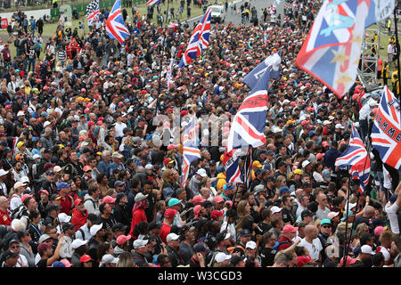 Silverstone, UK. 14th July, 2019.  Sport Grand Prix Formula One England 2019 In the pic: Fans Credit: LaPresse/Alamy Live News - Stock Photo