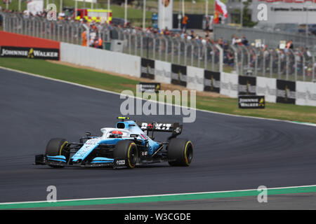 Silverstone, UK. 14th July, 2019.  Sport Grand Prix Formula One England 2019 In the pic: race, Robert Kubica (POL) Williams F1 FW42 Credit: LaPresse/Alamy Live News - Stock Photo