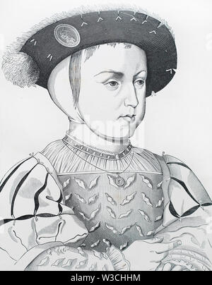 Francis II, King of France from 1559 to 1560. Portrait by Franois Clouet. - Stock Photo