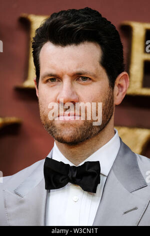 London, UK. 14th July 2019. Billy Eichner poses on the yellow carpet at the European premiere of Disneys 'The Lion King' on Sunday 14 July 2019 at ODEON LUXE Leicester Square, London. Billy Eichner. Picture by Julie Edwards. Credit: Julie Edwards/Alamy Live News - Stock Photo