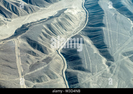 Nazca Lines in Peru - Stock Photo