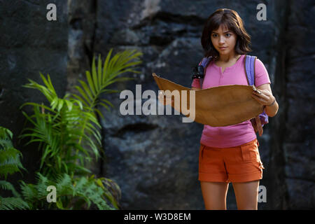 RELEASE DATE: August 9, 2019 TITLE: Dora and the Lost City of Gold STUDIO: Paramount Pictures DIRECTOR: James Bobin PLOT: Dora, a teenage explorer, leads her friends on an adventure to save her parents and solve the mystery behind a lost city of gold. STARRING: ISABELA MONER stars as Dora. (Credit Image: © Paramount Pictures/Entertainment Pictures) - Stock Photo