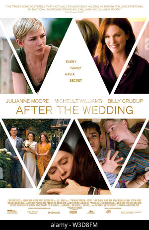 RELEASE DATE: August 9, 2019 TITLE: After The Wedding STUDIO: Sony Pictures DIRECTOR: Bart Freundlich PLOT: A manager of an orphanage in Kolkata travels to New York to meet a benefactor. STARRING: Poster Art. (Credit Image: © Sony Pictures/Entertainment Pictures) - Stock Photo
