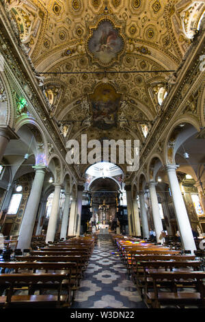 Italy, Lombardy, Varese, San Vittore Martire Basilica - Stock Photo
