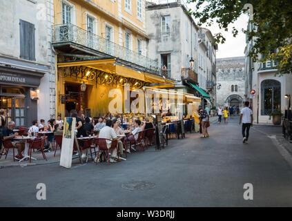 Arles, France - June 24, 2017: Cafe Van Gogh at Place du Forum in Arles. Provence, France - Stock Photo
