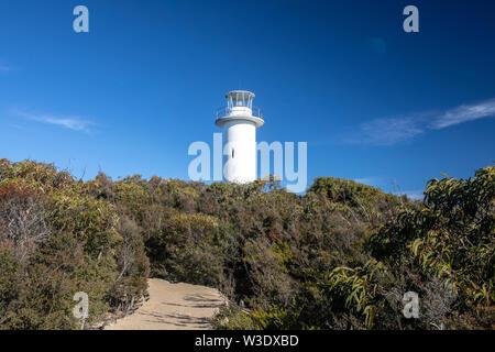 Tasmania, Cape Tourville lighthouse in Freycinet national park on the east coast of Tasmania,Australia - Stock Photo