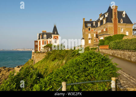 The villa Roches Brunes is a villa located alley des Douaniers in the town of Dinard, Brittany region, France - Stock Photo