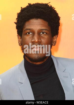 Labrinth attends the European Premiere of Disney's The Lion King at the Odeon Luxe cinema, Leicester Square in London. - Stock Photo