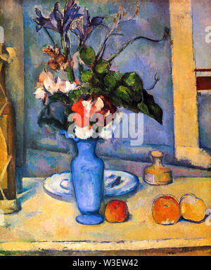 Paul Cézanne, The Blue Vase, still life painting, 1885-1887 - Stock Photo