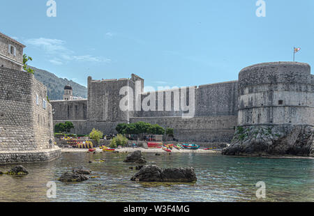 Dubrovnik West Harbour - Stock Photo