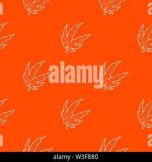 Marijuana leaf pattern vector orange - Stock Photo
