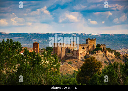 Castle palace of Escalona. Toledo province, Castilla-La Mancha. Spain Europe - Stock Photo