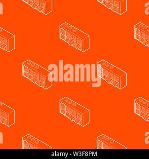 420 on analog flip clock pattern vector orange - Stock Photo