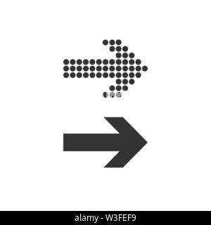 Arrow, forward icon Vector illustration flat - Stock Photo