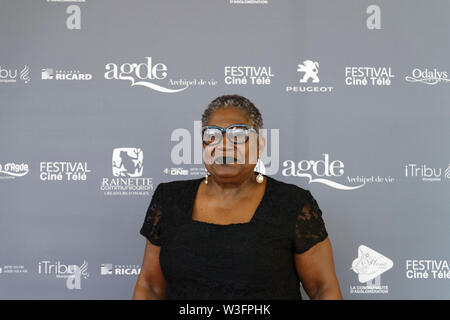 Cap of Agde, France. 21th June, 2019. Guests attends The Herault of Cinema and TV, 2019. © Veronique Phitoussi/Alamy Stock Photos - Stock Photo