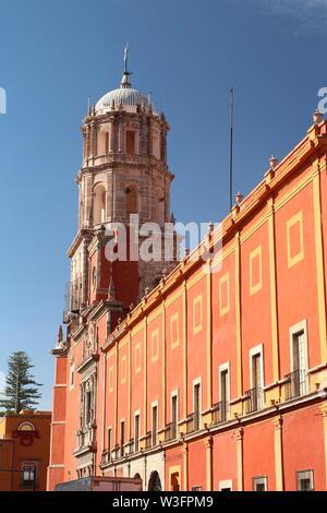 Temple of San Francisco de Asis de Queretaro in Zenea Garden, Santiago de Queretaro, Mexico. - Stock Photo