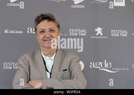 Cap of Agde, France. 21th June, 2019. Day 4 - Gerard Moulevrier attends The Herault of Cinema and TV in Congress Palace - Stock Photo