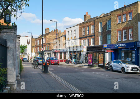 Old houses along Church Street, Stoke Newington, in the London Borough of Hackney, London UK - Stock Photo