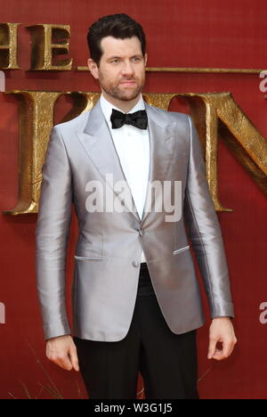 London, UK. 15th July, 2019. London, UK. Billy Eichner at European Premiere of Disney's The Lion King at the Odeon Luxe cinema, Leicester Square, London on July 14th 2019 Ref: LMK73-J5182-150719 Keith Mayhew/Landmark Media  Credit: LMK MEDIA/Alamy Live News - Stock Photo