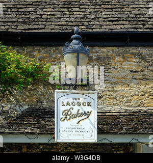 The Bakery in Lacock, Wiltshire, UK - Stock Photo