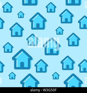 Seamless pattern with house icons. Vector illustration for design of a website related to real estate business. - Stock Photo