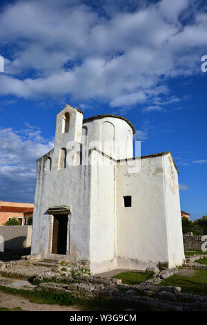 Church of the Holy Cross, Crkva svetog Križa, Nin, Croatia, Europe - Stock Photo
