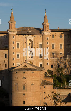 Urbino,Palazzo Ducale, the Ducal Palace, Urbino, Marche, Italy - Stock Photo