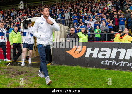 Newly appointed Chelsea Manager Frank Lampard is welcomed on to the pitch ahead of Chelsea's pre season friendly match against Bohemian FC in Dublin. Final Score 1-1. - Stock Photo