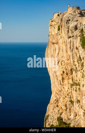 View Point on the Formentor Peninsula in Mallorca With Dramatic Cliffs and Blue Mediterranean Sea - Stock Photo