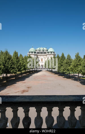 Schloss Belvedere, historic building complex, Vienna, Austria - Stock Photo