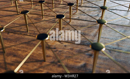 Linked Conceptual Teamwork. Network, Networking, Connect. Abstract Networking. 3D Rendering. High Quality Render.