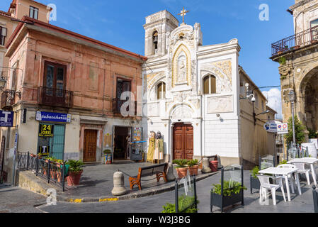 Pizzo, Calabria, Italy - September 10, 2016: Facade of the Church of Saint Mary Immaculate in Pizzo, small town in southern Italy - Stock Photo