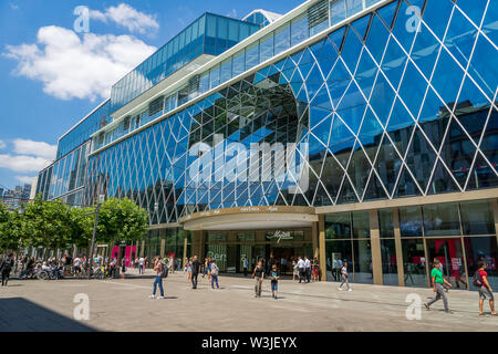 Frankfurt, Germany - July 1 2019: MyZeil - famous shopping mall in the center of Frankfurt am Main city, Germany. - Stock Photo